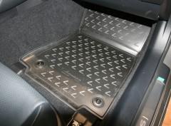 Фото 3 - Коврики в салон 3D для Lexus RC с 2014 полиуретановые, черные (Novline / Element)