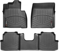 Коврики в салон для Mercedes G-Class W463 с 2002 черные, резиновые 3D (WeatherTech)