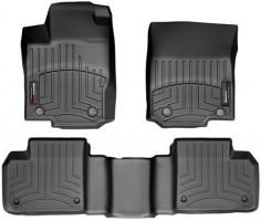 Коврики в салон для Mercedes GL/GLS X166 '12- черные, резиновые 3D (WeatherTech)