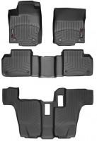 Коврики в салон для Mercedes GL/GLS X166 '12- черные, резиновые 3D (WeatherTech) 1+2+3 ряд