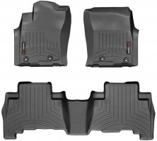 Коврики в салон для Toyota LC Prado 150 с 2013 черные, резиновые 3D (WeatherTech)