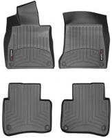 Коврики в салон для Mercedes S-Class W222 с 2013 черные, резиновые 3D (WeatherTech), (Long)