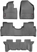 Коврики в салон для Kia Sorento с 2015 черные, резиновые 3D (WeatherTech) 3-й ряд