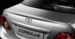 Спойлер багажника для Toyota Corolla 2007-2012 под покраску (AVTM)