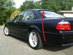 Спойлер заднего стекла для BMW 5 E39 1996-2003 под покраску (Украина)