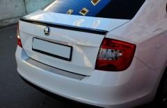 Спойлер багажника для Skoda Rapid с 2013 под покраску (AutoPlast)