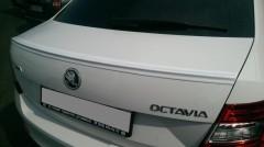 Спойлер багажника для Skoda Octavia A7 с 2013 под покраску (AutoPlast)