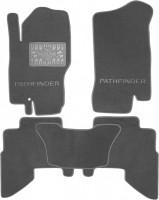 Коврики в салон для Nissan Pathfinder 2005-2014 текстильные, серые (Премиум)