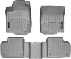 Коврики в салон для Mercedes ML/GLE W166 '11-18 серые, резиновые 3D (WeatherTech)
