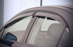 Дефлекторы окон для Honda Civic 2006-2012 седан, дымчатые (AVTM)