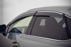 Дефлекторы окон для Lexus NX с 2014, дымчатые, с хром.молдингом (AVTM)