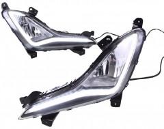 Противотуманные фары для Hyundai Elantra MD 2014 - 2015, светодиодные (LED-DRL)