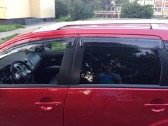 Дефлекторы окон для Mitsubishi Outlander XL 2007-2012, дымчатые (AVTM)