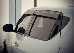 Дефлекторы окон для Nissan Juke с 2012, дымчатые (AVTM)