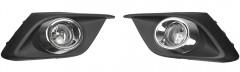 Противотуманные фары для Mazda 3 c 2014 комплект (Dlaa)