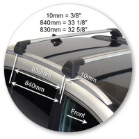 Фото 6 - Багажник Kia Sportage с 2016 на интегрированные рейлинги Whispbar Flush Bar, серый