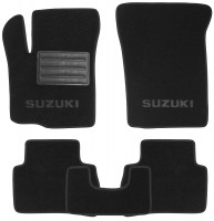 Коврики в салон для Suzuki Vitara с 2015, текстильные, черные (Премиум)