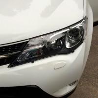 Защита фар для Toyota RAV4 2013 - 2015, прозрачная 2 шт. (EGR)