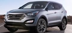 Защита фар для Hyundai Santa Fe с 2013 DM, прозрачная с черной окантовкой 2 шт (EGR)