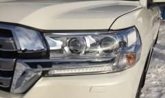 Защита фар без LED для Toyota Land Cruiser 200 с 2015, прозрачная 2 шт (EGR)
