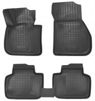 Коврики в салон для BMW X1 F48 с 2015, полиуретановые, черные (Nor-Plast)