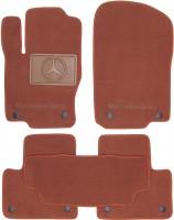 Коврики в салон для Mercedes ML/GLE W166 '11-18 текстильные, терракотовые (Премиум) 8 клипс