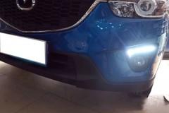 Фото 3 - Дневные ходовые огни для Mazda CX-5 '2012-2015 V2, черные (LED-DRL)