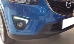 Фото 4 - Дневные ходовые огни для Mazda CX-5 '2012-2015 V2, черные (LED-DRL)