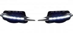 Дневные ходовые огни для Mercedes C-Class W204 2007-2011, хром, V2 (LED-DRL)