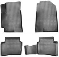 Коврики в салон для Hyundai Accent с 2017 черные, полиуретановые 3D (Nor-Plast)