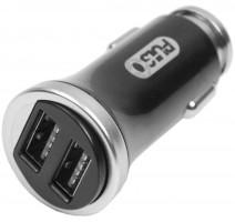 Универсальное автомобильное зарядное устройство C-2411BK 2USB (12/24V - 5V 2,4A)