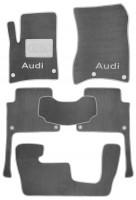 Textile-Pro Коврики в салон для Audi Q7 2005 - 2014 текстильные, серые (Люкс) 1+2+3 ряд 8 клипс
