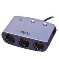 Разветвитель прикуривателя на 3 гнездa + USB SC-3005