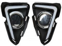 Дневные ходовые огни для Toyota RAV4 с 2016 (LED-DRL)