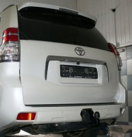 Фаркоп несъемный Toyota LC Prado 150 '10- араб., штатн. крепл. (Полигон)