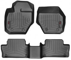 Коврики в салон для Volvo XC60 '09-17 черные, резиновые 3D (WeatherTech)