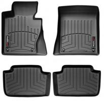 Коврики в салон для BMW X3 E83 '03-09 черные, резиновые 3D (WeatherTech)