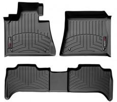 Коврики в салон для BMW X5 E53 '00-07 черные, резиновые 3D (WeatherTech)