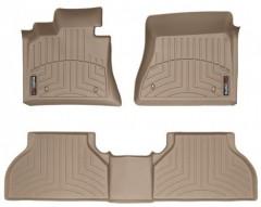 Коврики в салон для BMW X5 E70 '07-13 бежевые, резиновые 3D (WeatherTech)