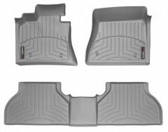 Коврики в салон для BMW X5 E70 '07-13 серые, резиновые 3D (WeatherTech)