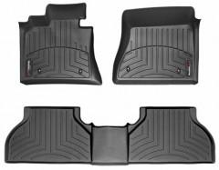 Коврики в салон для BMW X5 E70 '07-13 черные, резиновые 3D (WeatherTech)