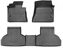 Коврики в салон для BMW X5 F15 '14- черные, резиновые 3D (WeatherTech)