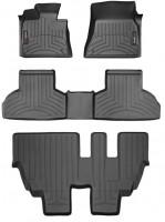 Коврик в салон для BMW X5 F15 '14- черный, резиновый 3D (WeatherTech) 1+2+3 ряд