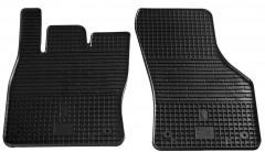 Коврики в салон передние для Volkswagen Golf Sportsvan '14- резиновые, черные (Stingray)
