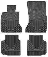 Коврики в салон для BMW7 F02 '13-15, задний привод, черные, резиновые (WeatherTech)