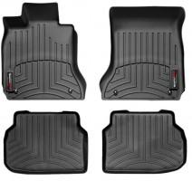 Коврики в салон для BMW7 F01 '08-13, задний привод, черные, резиновые 3D (WeatherTech)