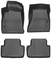 Коврики в салон для Audi A4 '15- черные, резиновые 3D (WeatherTech)