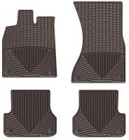 Коврики в салон для Audi A6 '11- коричневые, резиновые (WeatherTech)