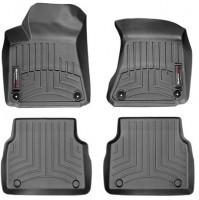 Коврики в салон для Audi A8 '10- черные, резиновые (WeatherTech)