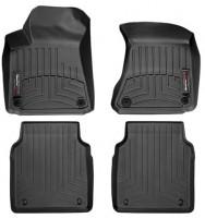 Коврики в салон для Audi A8 '10- черные, резиновые (WeatherTech) Long
